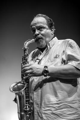 Marcelo Peralta in Jazz Eñe 2015. Teatre Rialto. Valencia.