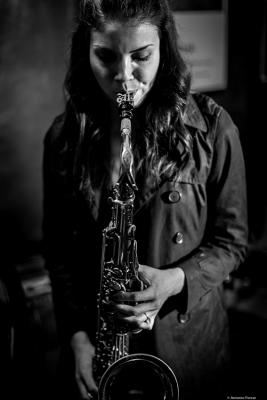 Melissa Aldana (2017) at Jimmy Glass, Jazz Club. Valencia.