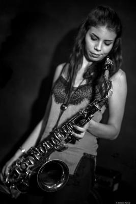 Melissa Aldana (2017) at Jimmy Glass, Jazz Club. Valencia.