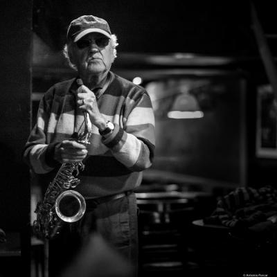 Lee Konitz (2016) in Jimmy Glass Jazz Club. Valencia.