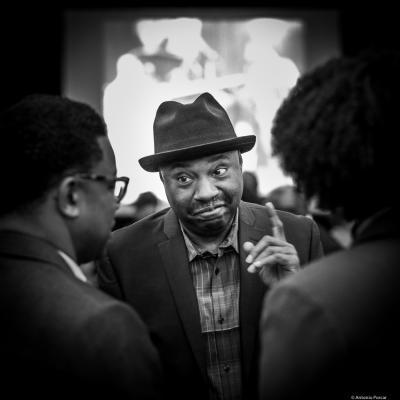 Lenny White at Institute of Jazz Studies. Newark, NJ. 2018.