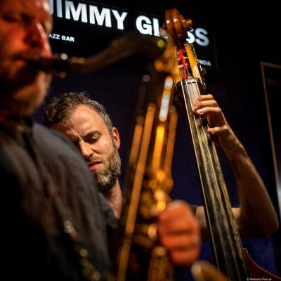 Chris Morrissey (2016) in Jimmy Glass Jazz Club. Valencia.