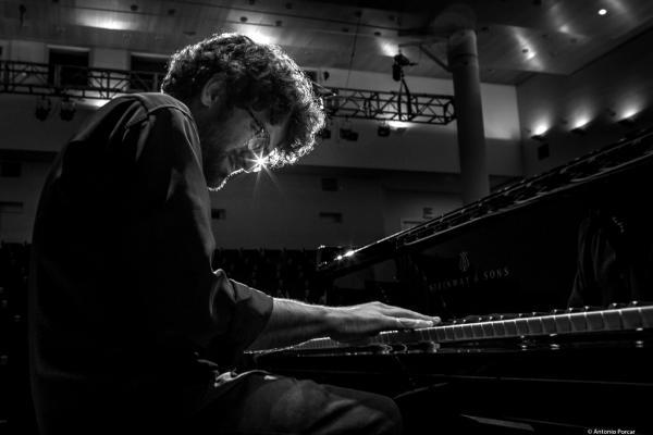 Albert Sanz at Jazz a poqueta nit 2017. Palau de la Música. Valencia