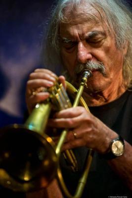 Enrico Rava (2017) at Jimmy Glass Jazz Club. Valencia.