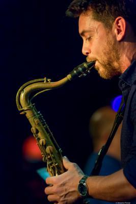 Joan Benavent (2016) in Jimmy Glass Jazz Club. Valencia