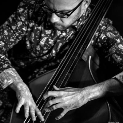 """Antonio """"Toño"""" Miguel (2017) in Jimmy Glass Jazz Club. Valencia."""