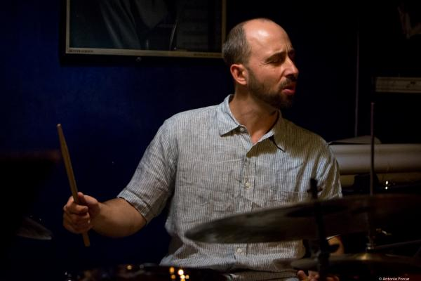 Harris Eisenstadt (2016) in Jimmy Glass Jazz Club. Valencia.