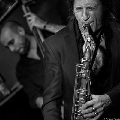 Jorge Pardo (2015) in Jimmy Glass Jazz Club. Valencia