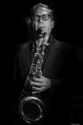 Matt Bauder (2016) in Jimmy Glass Jazz Club. Valencia