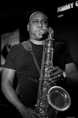 Abraham Burton (2016) in Jimmy Glass Jazz Bar. Valencia