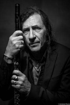 Jorge Pardo (2015) in Jimmy Glass Jazz Club. Valencia