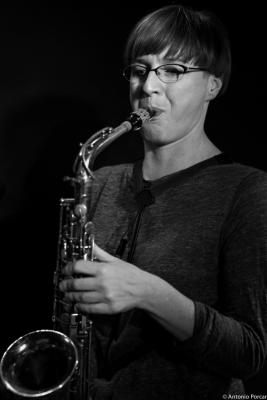 Silke Eberhard (2015) in Jimmy Glass Jazz Club. Valencia