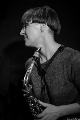 Silke Eberhard (2015) in Jimmy Glass Jazz Club. Valencia
