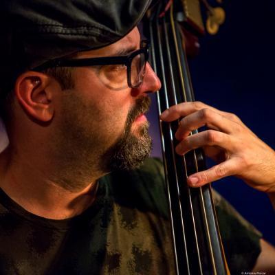 John Hébert (2016) in Jimmy Glass Jazz Club. Valencia.