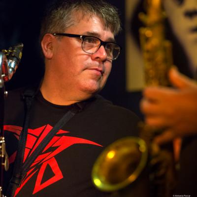 Oscar Noriega (2016) in Jimmy Glass Jazz Club. Valencia.
