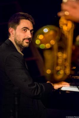 Joan Monné (2015) in Jimmy Glass Jazz Club. Valencia.