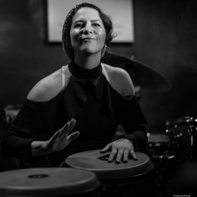Jacquelene Acevedo in Jimmy Glass Jazz Club. Valencia