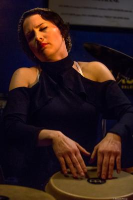 Jacquelene Acevedo in Jimmy Glass Jazz Club. Valencia
