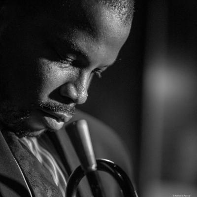 Jeremy Pelt (2016) in Jimmy Glass Jazz Club. Valencia.