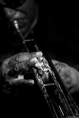 Wallace Roney (2015) in Jimmy Glass Jazz Club. Valencia.