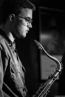 Ben Solomon (2015) in Jimmy Glass Jazz Club. Valencia
