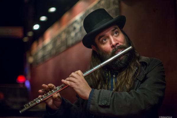 Javier Vercher (2016) in Jimmy Glass Jazz Club. Valencia.