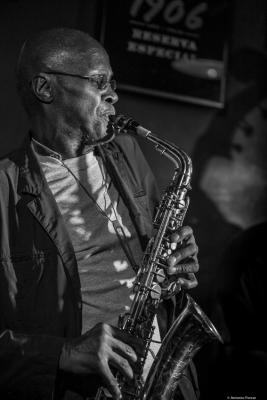 Charles Gayle (2016) in Jimmy Glass Jazz Bar. Valencia.