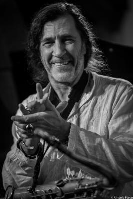 Jorge Pardo (2016) in Café Central. Madrid.