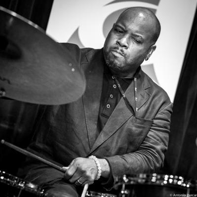 Gene Jackson (2015) in Reduta Jazz Club. Prague