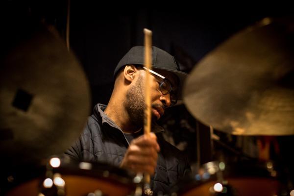Eric Harland (2016) in Jimmy Glass Jazz Club. Valencia.