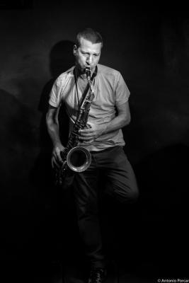 Assif Tsahar (2015) in Jimmy Glass Jazz Club. Valencia