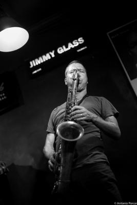 Assif Tsahar (2015) in Jimmy Glass Jazz Club. Valencia
