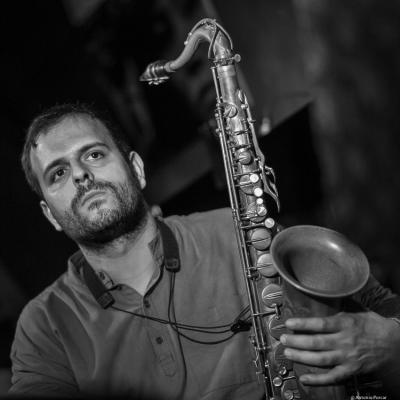 Enrique Oliver (2017) in Jimmy Glass Jazz Club. Valencia.