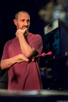 Jorge Rossy (2015) in Jimmy Glass Jazz Club. Valencia.