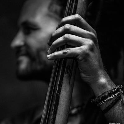 Ales Cesarini, (2017)  at Jimmy Glass Jazz Club. Valencia.