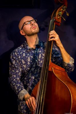 """Antonio """"Toño"""" Miguel (2016) in Jimmy Glass Jazz Club. Valencia."""