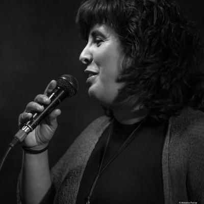 Celeste Alías Borjas (2017) at Jimmy Glass Jazz Club. Valencia.
