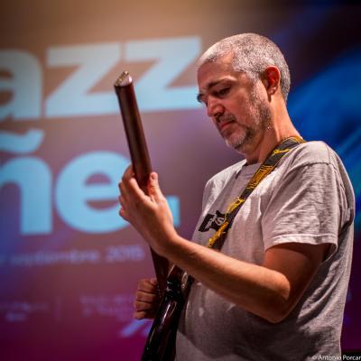 Daniel Pérez in Jazz Eñe 2015. Valencia.