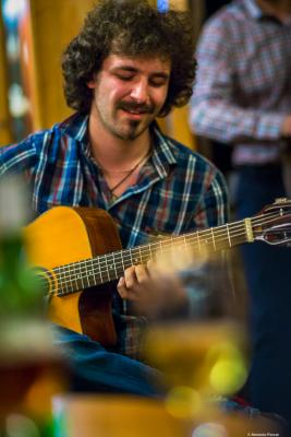 Dimitar Blagoev (2018) at Tea House (Чай във фабриката). Sofia.