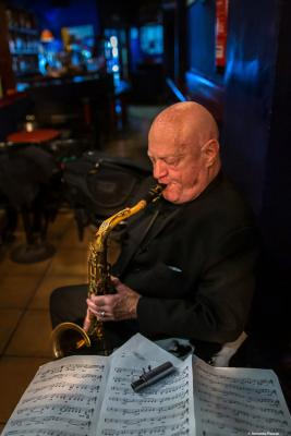 Don Menza (2019) at Jimmy Glass Jazz Club. Valencia.