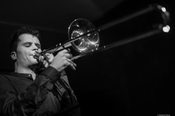 George Francis Marti (2017) at Café Mercedes Jazz Club. Valencia.