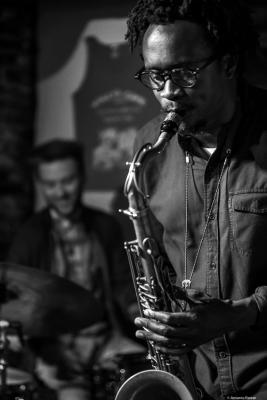 Gregory Groover Jr. (2018) at Walle's Cafe Jazz Club. Boston.