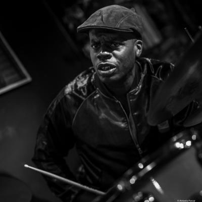 Gregory Hutchinson (2018) at Jimmy Glass Jazz Club. Valencia.