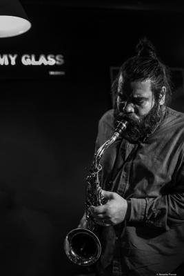 Javier Vercher (2019) at Jimmy Glass Jazz Club. Valencia.
