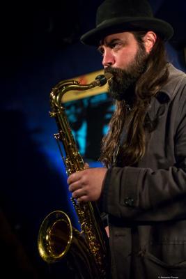 Javier Vercher (2017) in Jimmy Glass Jazz Club. Valencia.