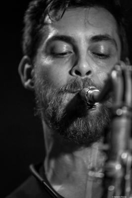 Joan Benavent (2017) in Jimmy Glass Jazz Club. Valencia
