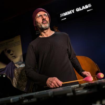 Jorge Rossy (2019) at Jimmy Glass Jazz Club. Valencia.