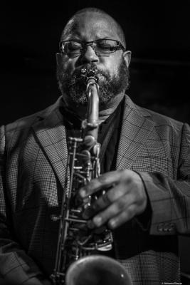 Justin Robinson (2019) at Jimmy Glass Jazz Club. Valencia.