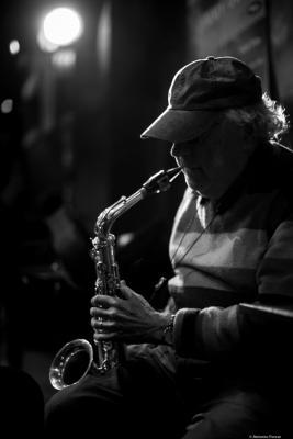 Lee Konitz (2016) in Jimmy Glass Jazz Club. Valencia.