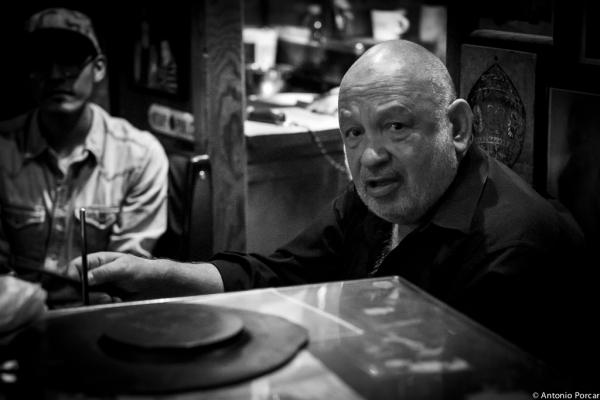 Frank Levatino in Arturo's Coal Oven Pizza. NYC.